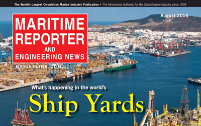 Maritime Reporter and Engineering News cover logo